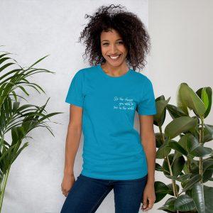 unisex staple t shirt aqua front 611c07ab55883